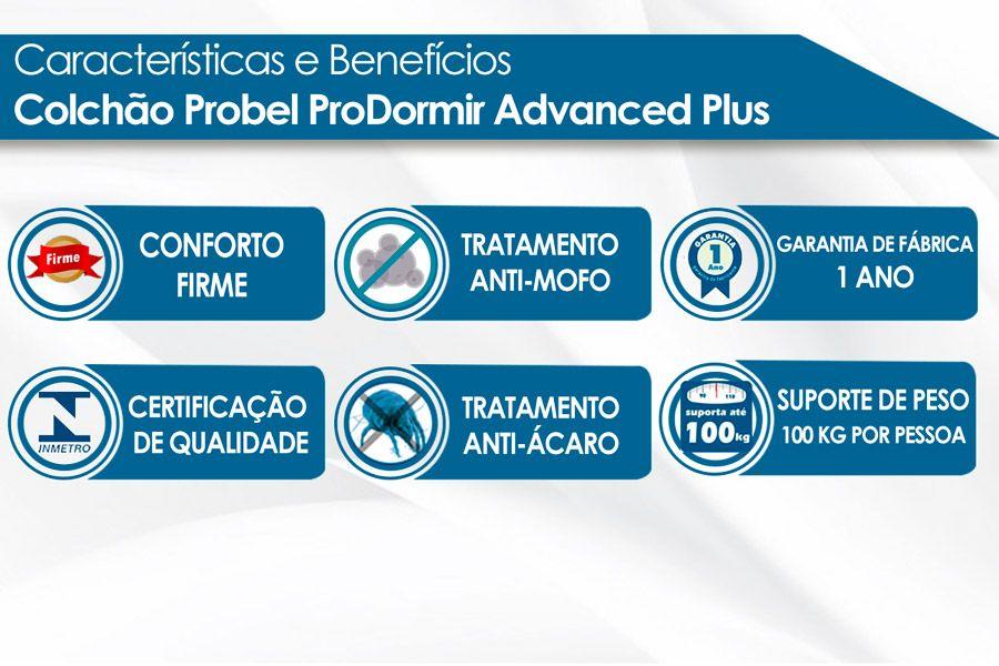 Colchão Probel de Espuma ProDormir Advanced Plus D33 - Bege 26cm