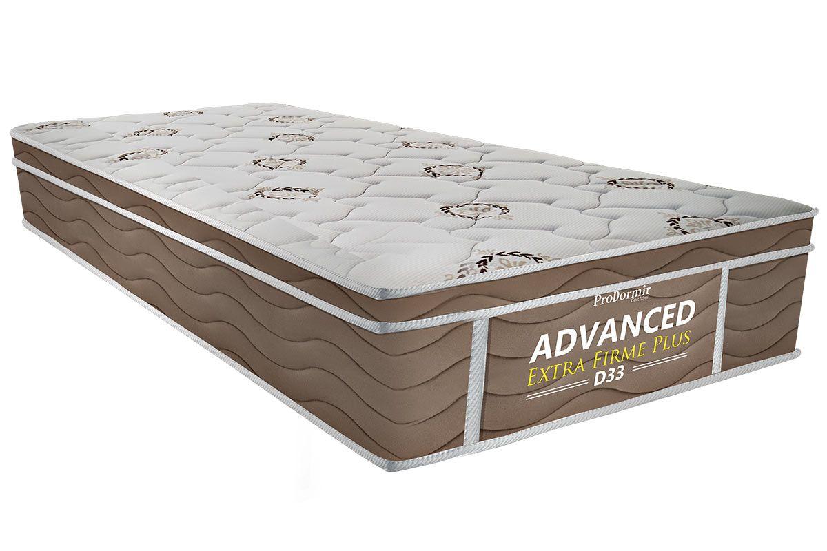Colchão Probel de Espuma ProDormir Advanced Extra Firme Plus D33Colchão Solteiro - 0,88x1,88x0,24 - Sem Cama Box