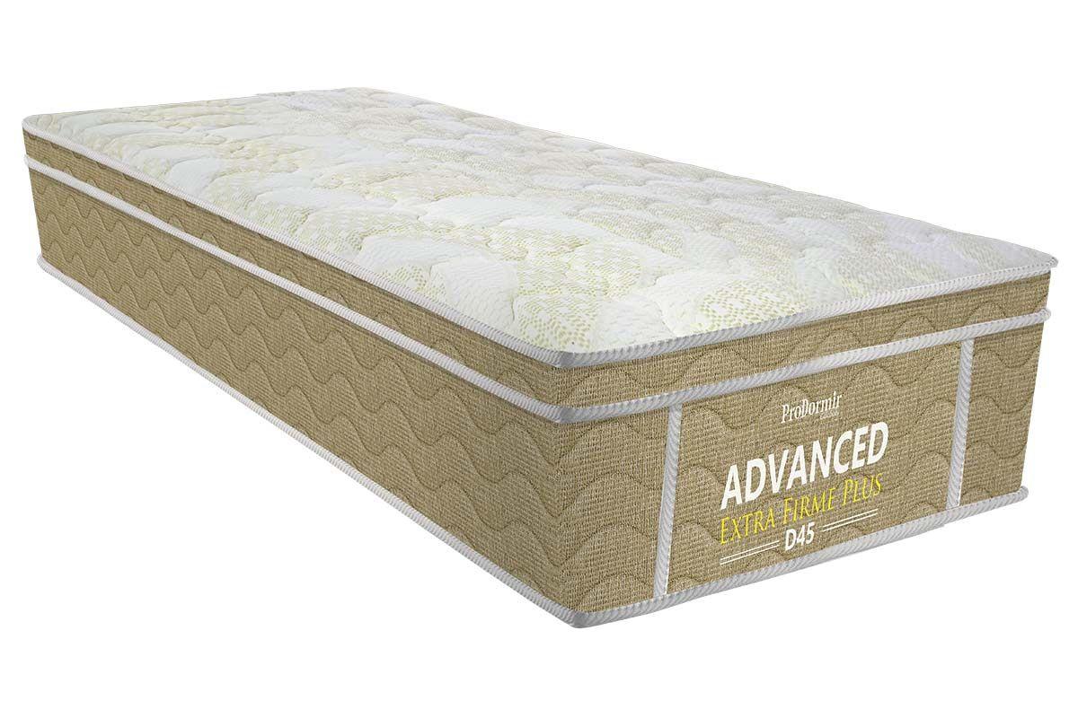 Colchão Probel de Espuma ProDormir Advanced Extra Firme Plus D45 24cmColchão Solteiro - 0,88x1,88x0,24 - Sem Cama Box