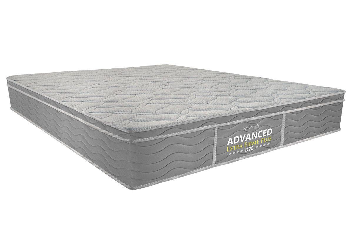 Colchão de Espuma ProDormir Advanced Extra Firme Plus D28 - 24cmColchão Queen Size - 1,58x1,98x0,24 - Sem Cama Box