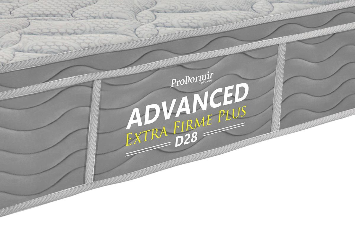 Colchão de Espuma ProDormir Advanced Extra Firme Plus D28 - 24cm