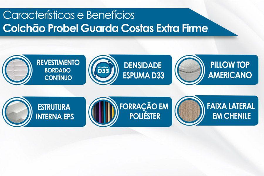Colchão Probel de Espuma Guarda Costas Extra Firme Plus D33