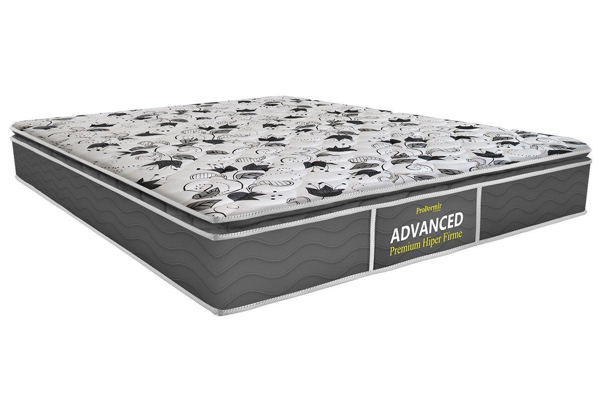 Colchão Probel de Espuma ProDormir Advanced Premium Hiper Firme 26cmColchão Casal - 1,28x1,88x0,26 - Sem Cama Box
