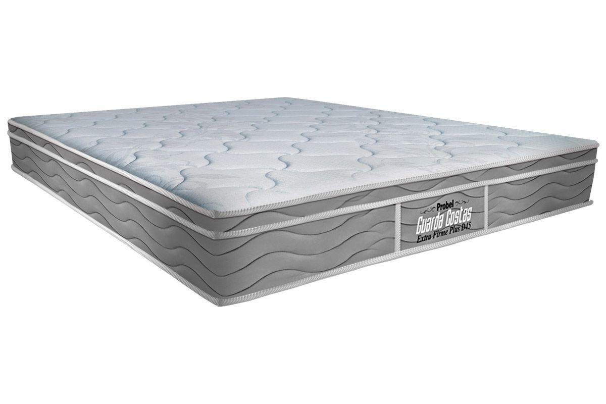 Colchão Probel de Espuma Guarda Costas Extra Firme Plus D45Colchão Queen Size - 1,58x1,98x0,24 - Sem Cama Box