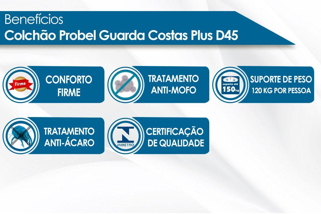Colchão Probel de Espuma Guarda Costas Extra Firme Plus D45