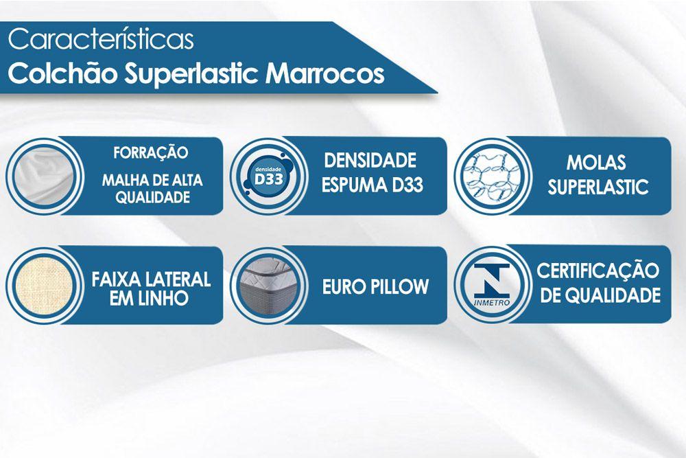 Colchão Luckspuma Molas Superlastic Marrocos Pillow