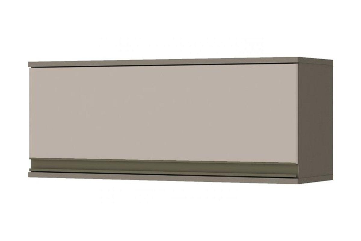 Armário de Cozinha Aéreo Henn Connect c/ 1 Porta Basculante 80cmCor Duna c/ Cristal