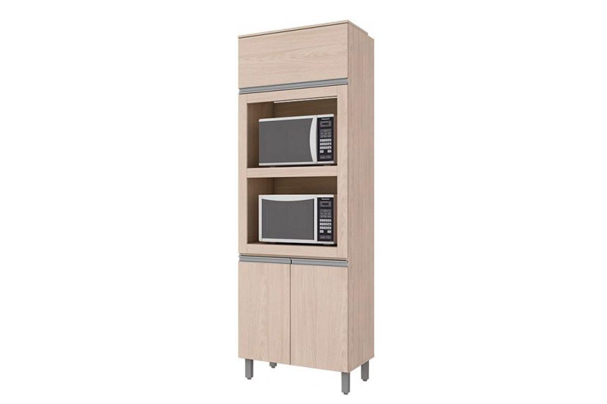 Torre Quente Armário de Cozinha Henn Connect c/ 2 Fornos 71,5cm-Cor Duna c/ CristalCor Fendi HP