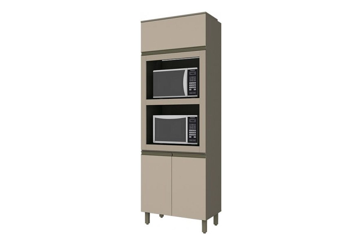 Torre Quente Armário de Cozinha Henn Connect c/ 2 Fornos 71,5cm-Cor Duna c/ CristalCor Duna c/ Cristal