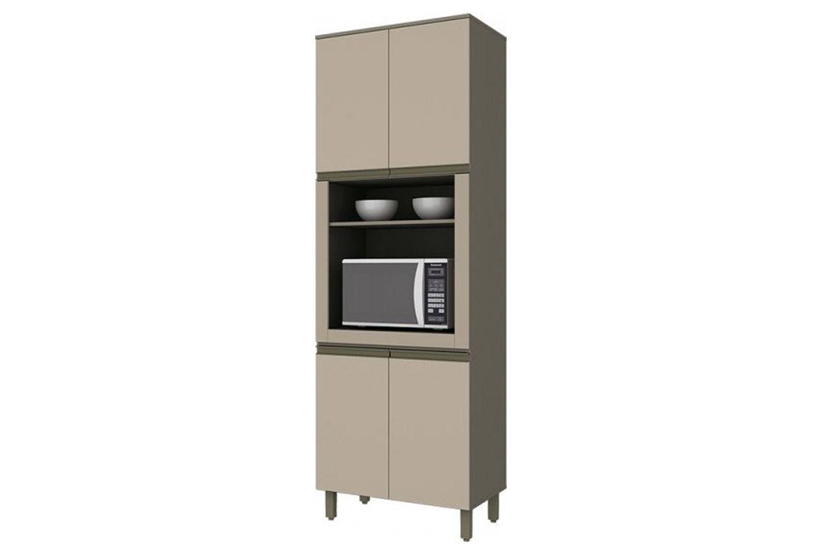 Armario Torre Quente de Cozinha Henn Connect c/ 1 Forno 71,5cmCor Duna c/ Cristal