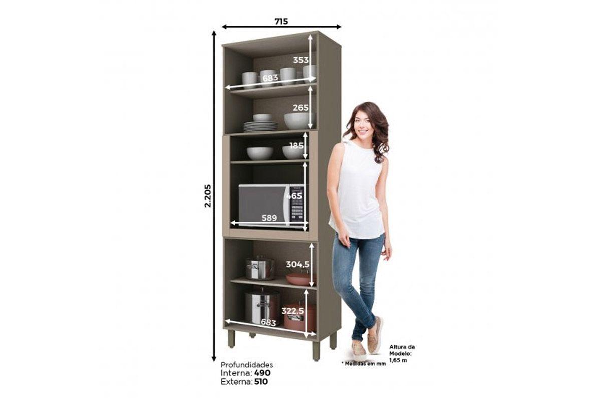 Armario Torre Quente de Cozinha Henn Connect c/ 1 Forno 71,5cm