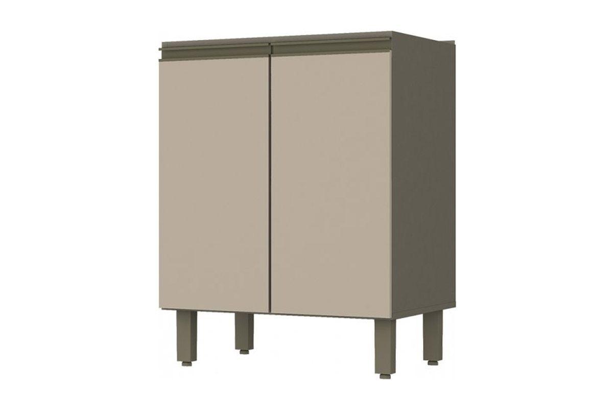 Balcão de Cozinha Henn Connect 2 Portas 60cm s/ TampoCor Duna c/ Cristal