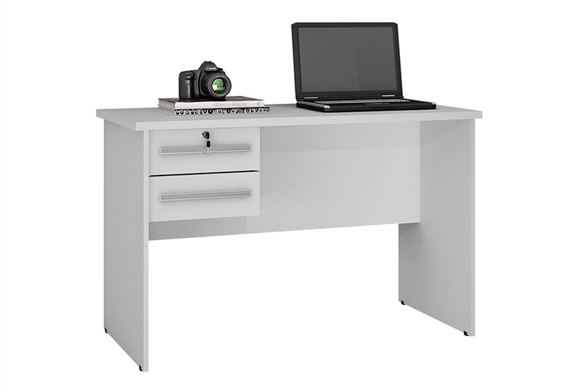 Mesa p/ Computador Valdemóveis Byte c/ 2 GavCor Branco