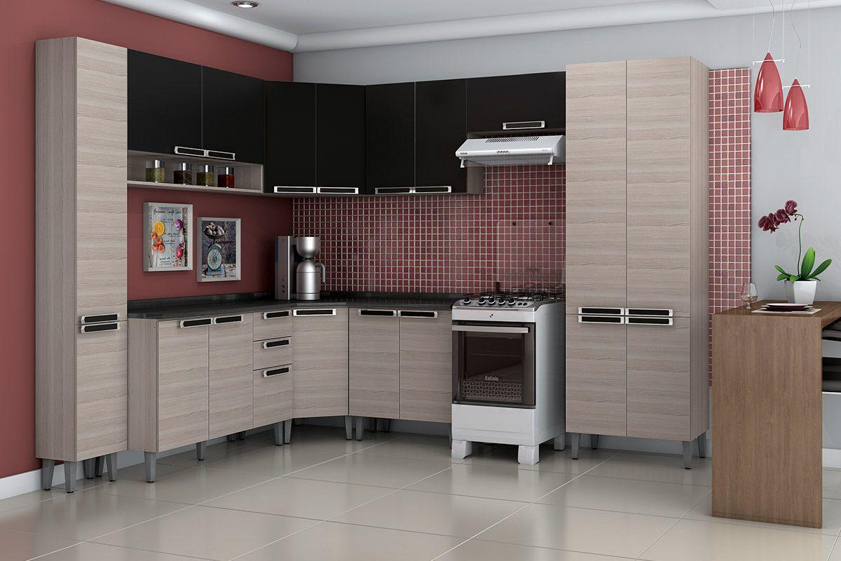 Paneleiro De Cozinha Itatiaia Jazz Madeira Simples Alto 35cm At 40