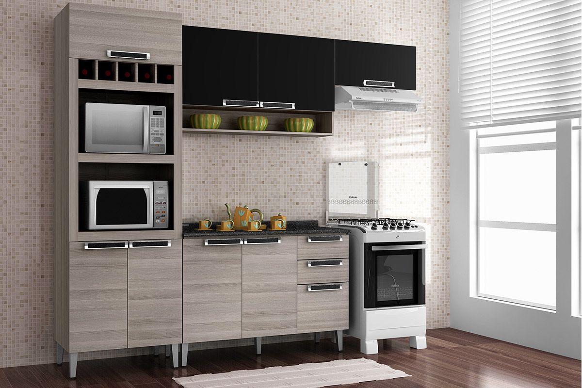 paneleiro de cozinha itatiaia jazz madeira profundo c nicho lateral  #996E32 1200x800