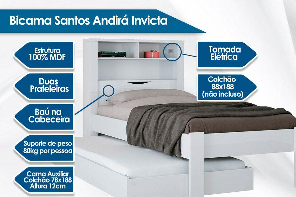 Bicama Solteiro Santos Andirá Invicta