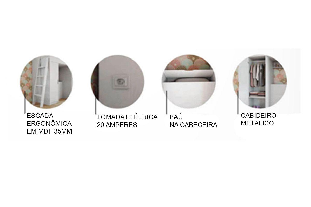 Cama Multifuncional Solteiro Santos Andirá Conect