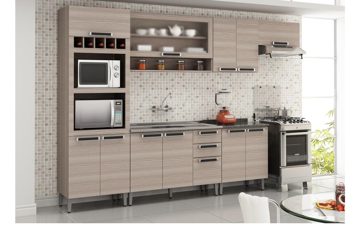 Armário de Cozinha Itatiaia Jazz Madeira 2 Portas 70cm Cor Coimbra  #A63B25 1200x800