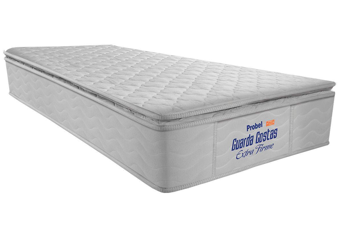 Colchão Probel de Espuma Guarda Costas Extra Firme Pillow TopColchão Solteiro - 0,88x1,88x0,30 - Sem Cama Box