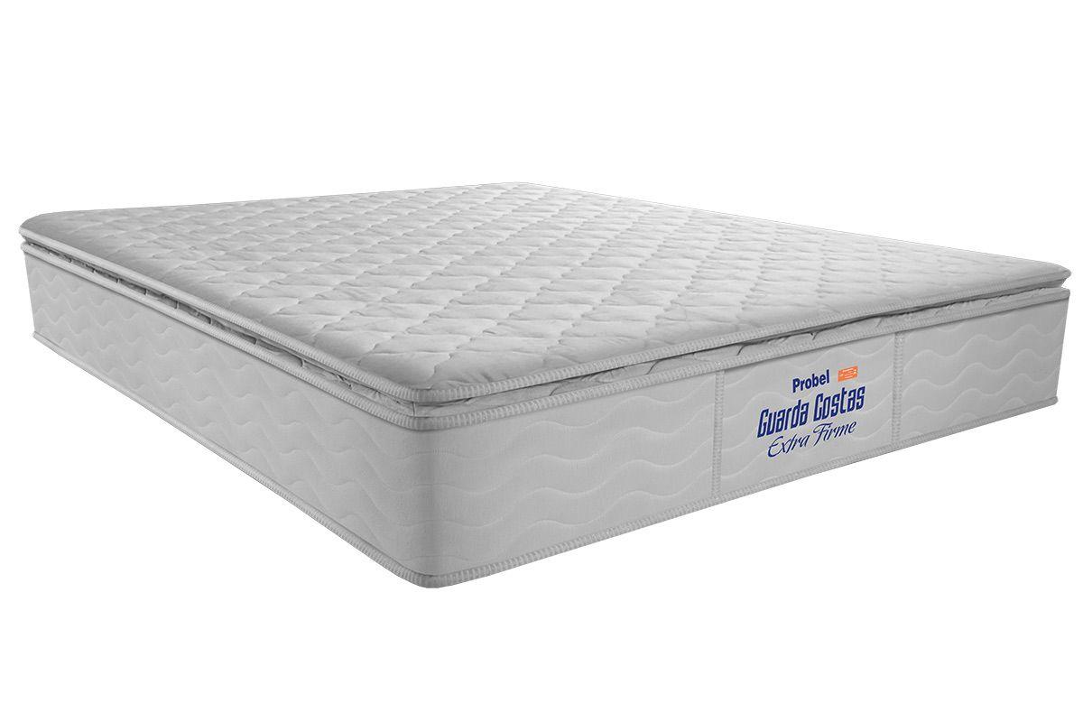 Colchão Probel de Espuma Guarda Costas Extra Firme Pillow TopColchão Casal - 1,28x1,88x0,30 - Sem Cama Box