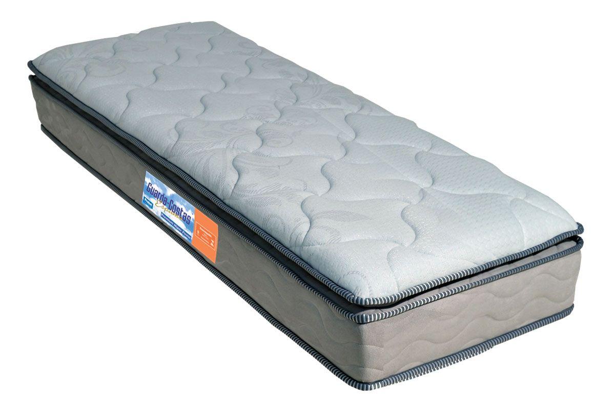 Colchão Probel de Espuma Guarda Costas Premium Hiper Firme Pillow TopColchão Solteiro - 0,88x1,88x0,24 - Sem Cama Box