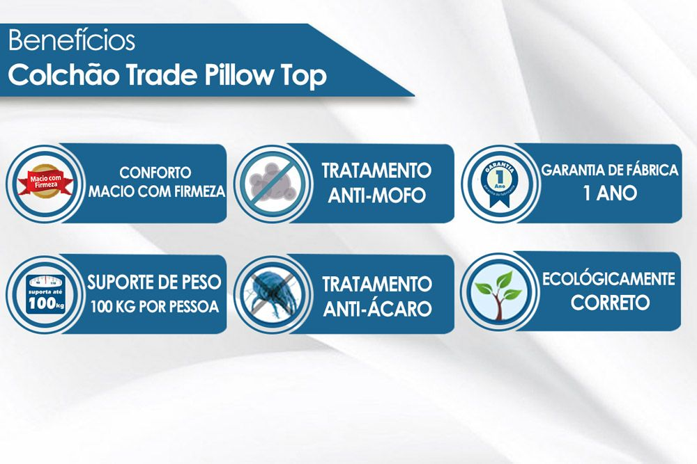 Colchão Luckspuma Bonnel Trade Pillow Cinza