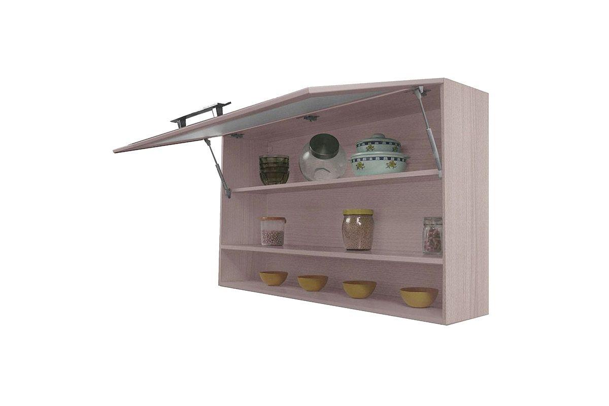 Armário de Cozinha Itatiaia Jazz Madeira Horizontal Vidro Moldura C/ Nicho 1,20cm