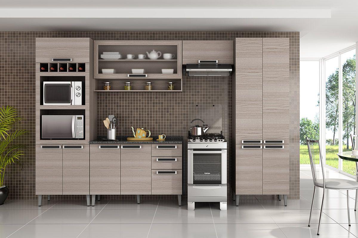 Cozinhas Itatiaia de Madeira Completas com Armário de Cozinha  #515A2C 1200 800