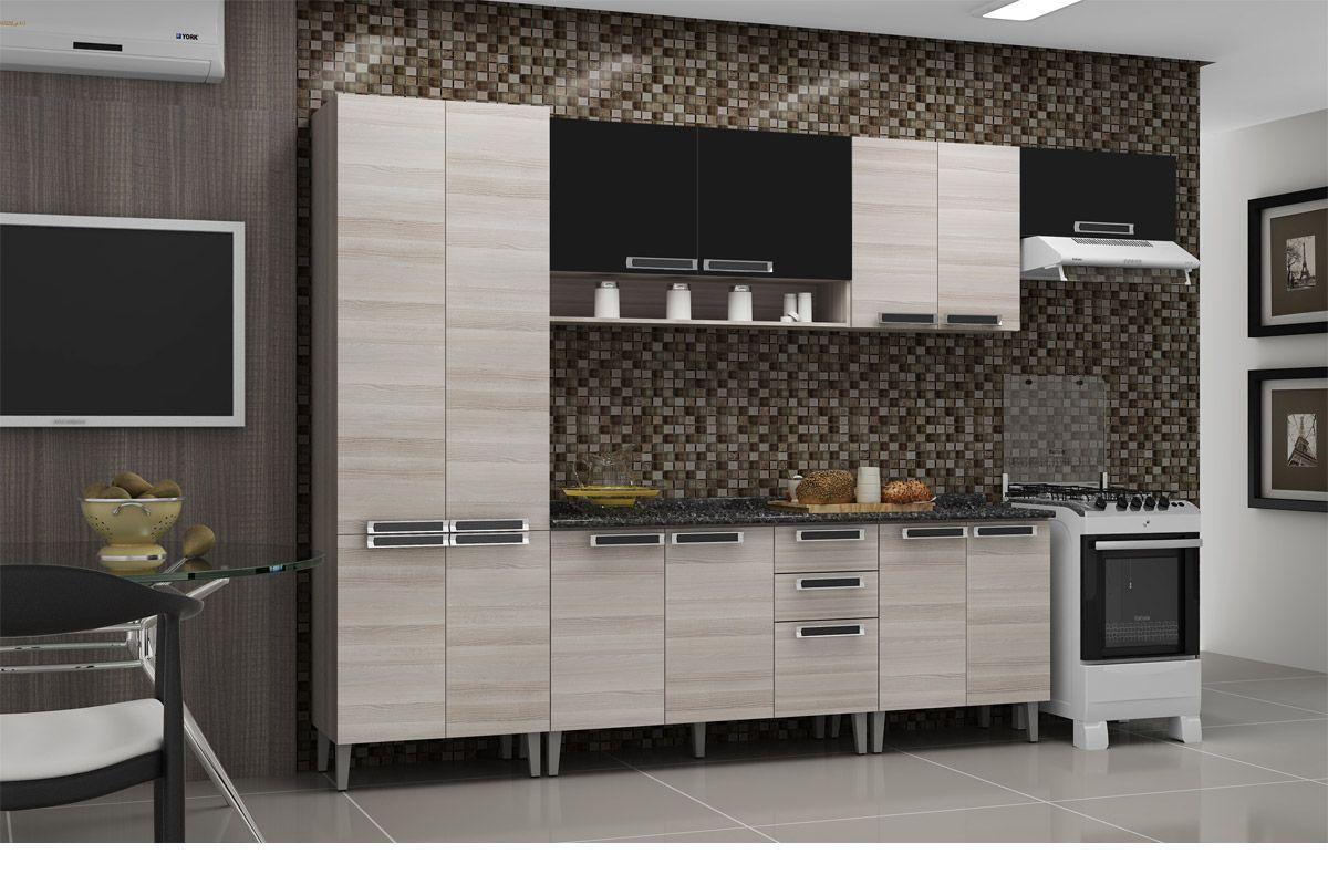 Cozinhas Itatiaia de Madeira Completas com Gabinete de Cozinha  #655C4D 1200 800