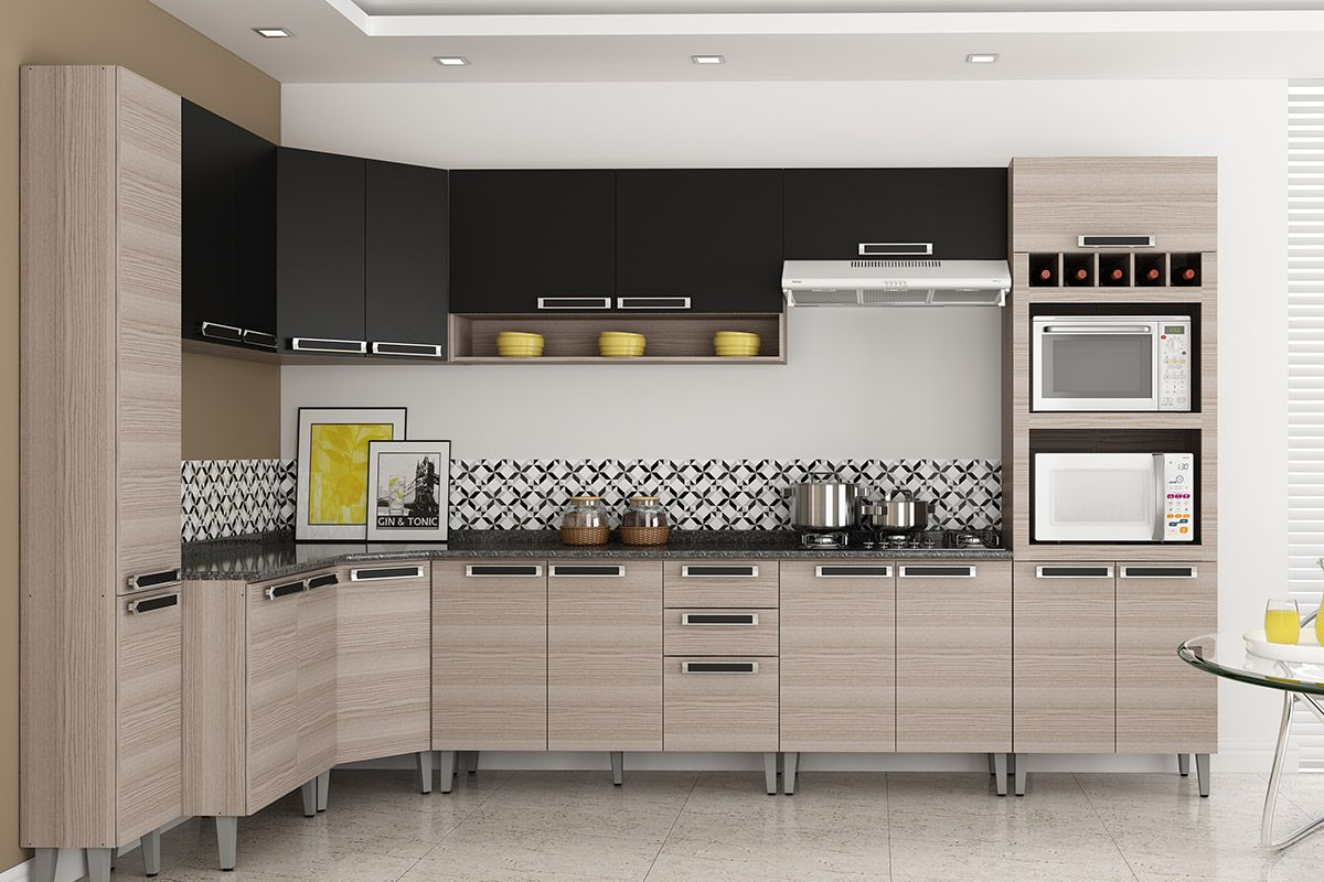 Cozinhas Itatiaia de Madeira Completas com Gabinete de Cozinha  #A69425 1200x800