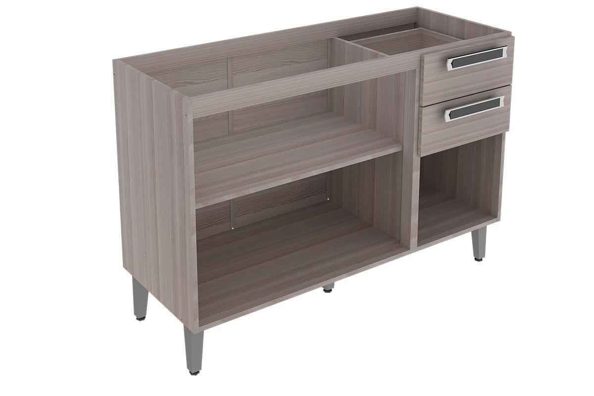Gabinete (Balcão) de Cozinha Itatiaia Jazz IG3G2 120 Madeira Triplo c  #493E3B 1200 800