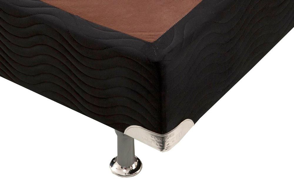 Cama Box Base Ortobom Nobuck Black 30