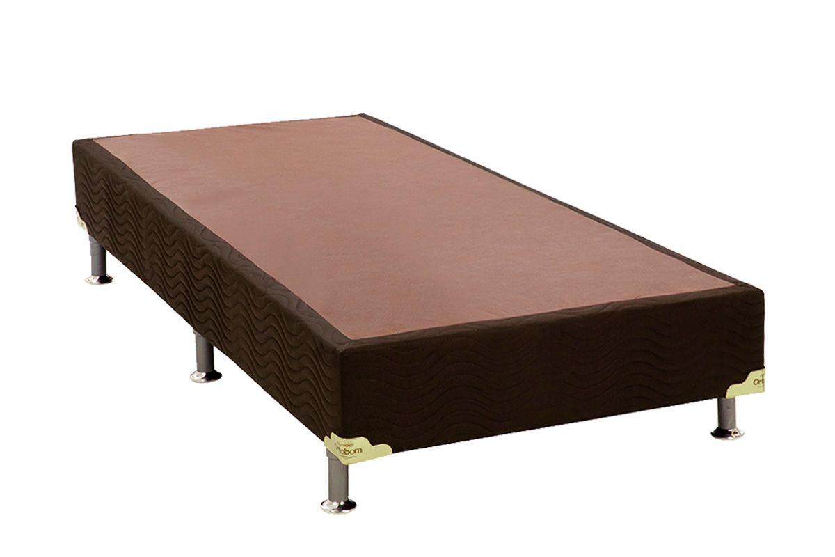 Cama Box Base Ortobom Nobuck Marrom 30