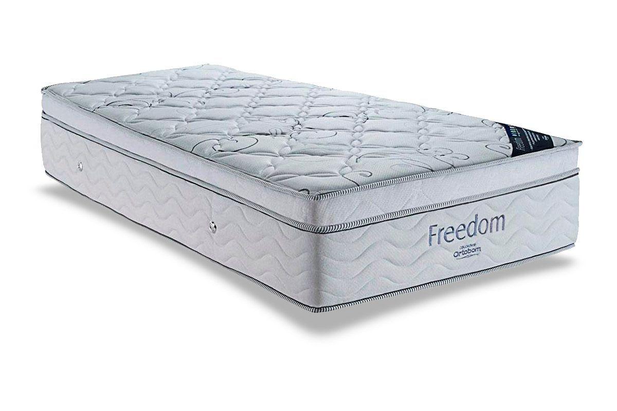 Colchão Ortobom Freedom Pocket PiliowColchão Solteiro - 0,78x1,88x0,32 - Sem Cama Box