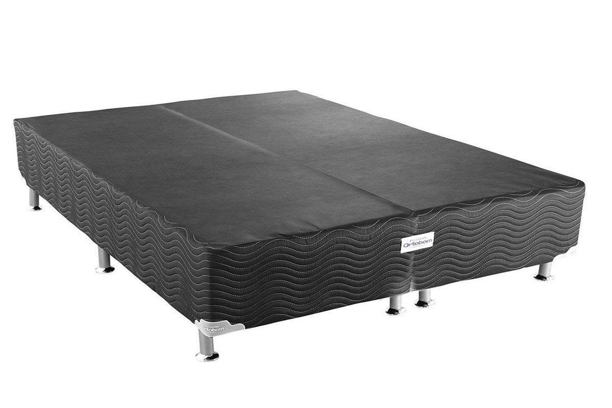 Cama Ortobom Box Base Ortobom Physical Black 20Cama Box Queen Size - 1,58x1,98x0,20 - Sem Colchão