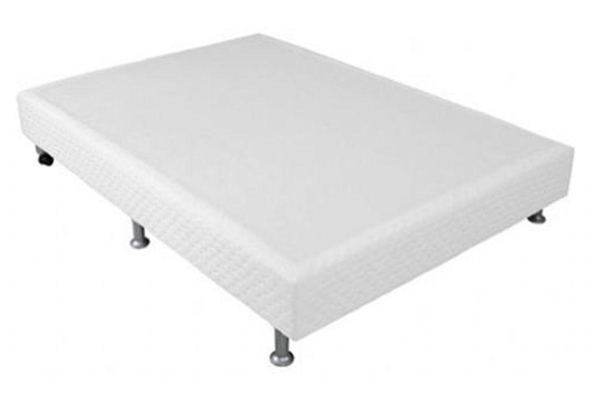 Cama Ortobom Box Base Physical Branco 20Cama Box Queen Size - 1,58x1,98x0,20 - Sem Colchão