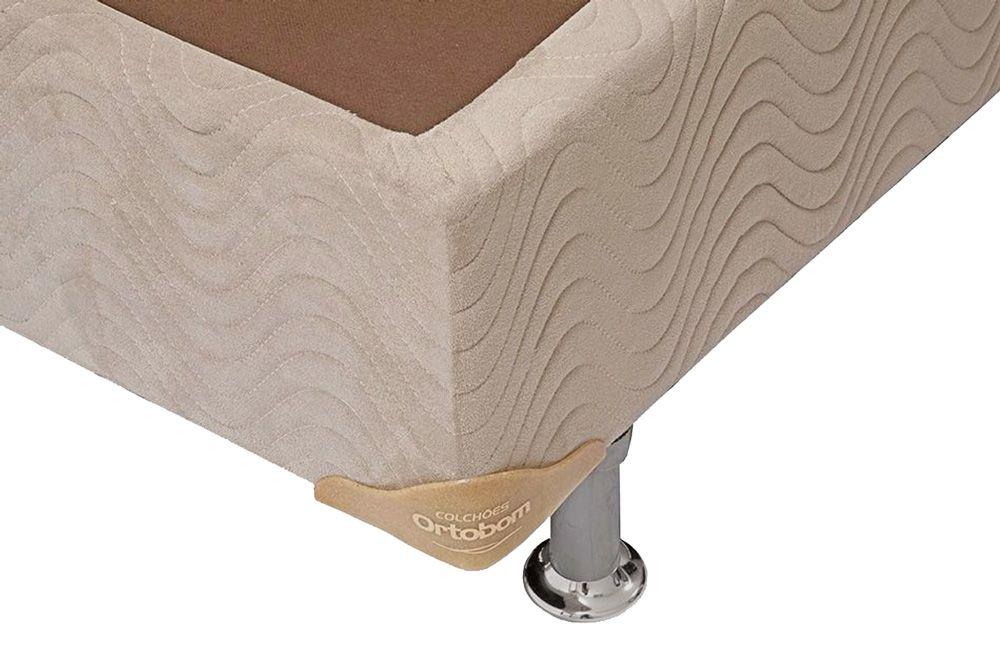Cama Ortobom Box Base Camurça Bege 30