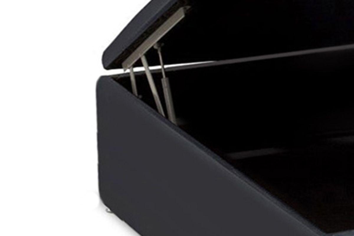 Cama Ortobom Box Baú Courino Black