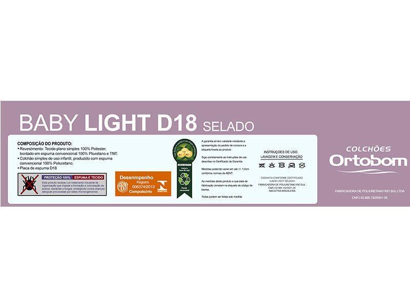 Colchão Ortobom Infantil Espuma D18 Baby Light