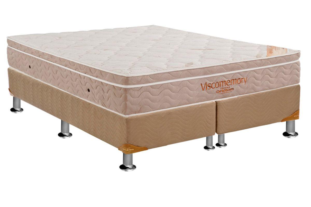 Conjunto Box - Colchão Apollo Viscomemory Ortobom + Cama Box Nobuck Bege Crema