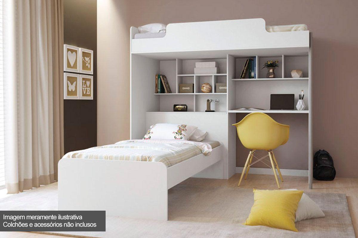 Beliche Com Escrivaninha e Baú Santos Andirá Office New