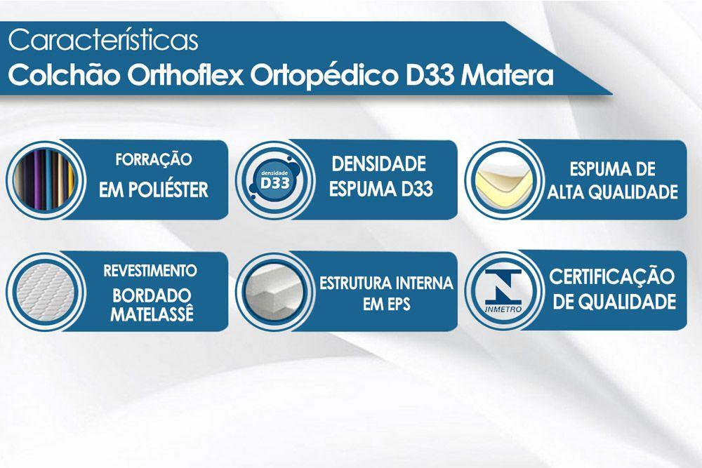 Colchão Orthoflex de Espuma Ortopédica D33 Matera