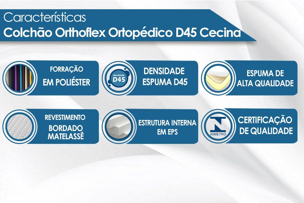 Colchão Orthoflex de Espuma Ortopédica D45 Cecina