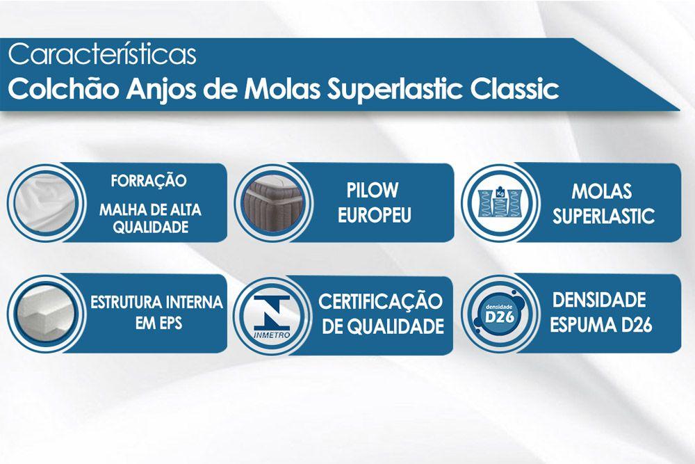 Colchão Anjos de Molas Superlastic Classic Preto
