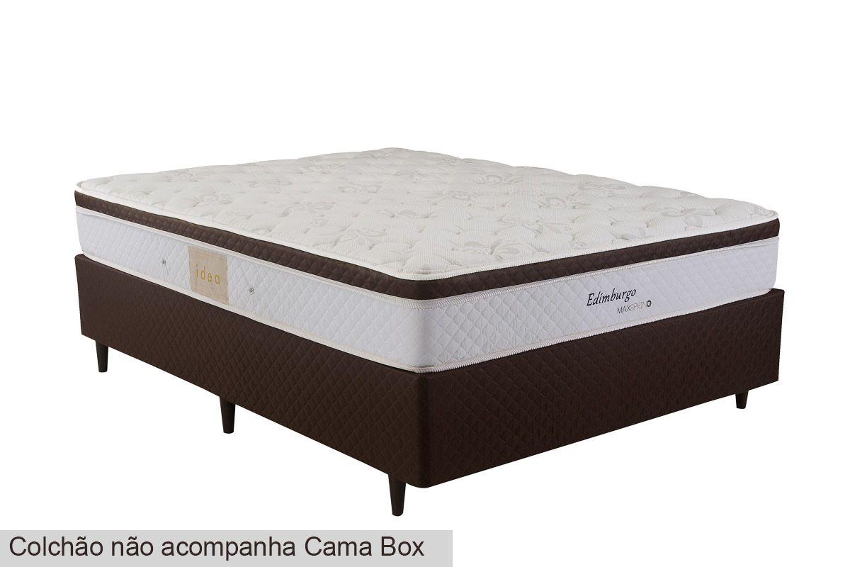 Cama Box Baú Herval MH 1439 Ravena Marrom