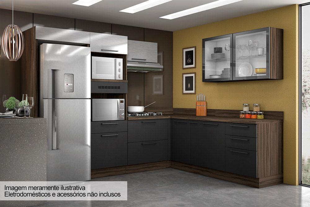 Gabinete de Canto Cozinha Itatiaia GB CANTO 1P-80 C_RP Madeira Gourmet G3 c/ 1 Portas s/ Tampo c/ Rodapé