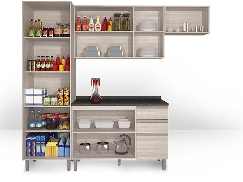 Armário de Cozinha Itatiaia Belíssima Madeira Horizontal 1 Porta até 40% OFF  # Utensilios Para Armario De Cozinha