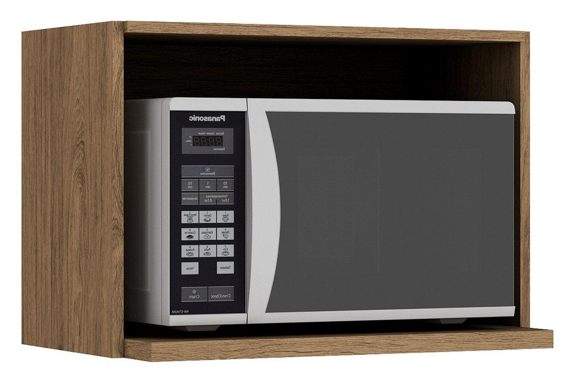 Nicho de Cozinha Henn Integra Porta Microondas 60 cmCor Rústico