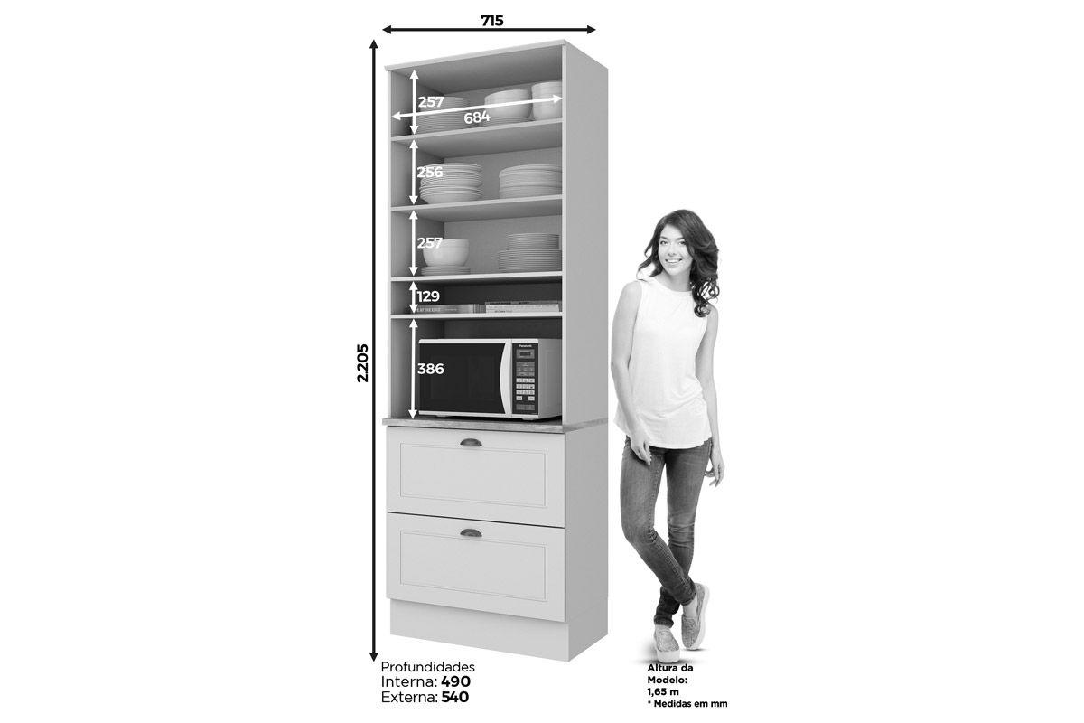 Paneleiro de Cozinha (Torre Quente) Henn Americana c/ 1 Forno 71,5cm