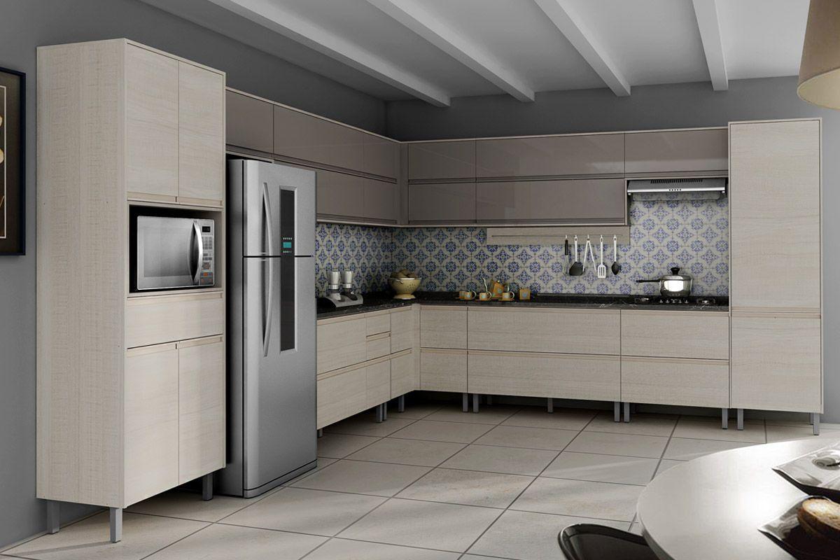 Cozinhas Itatiaia de Madeira Completas com Armário de Cozinha  #4F5C61 1200 800